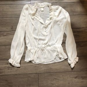 H&M white blouse is on sale now